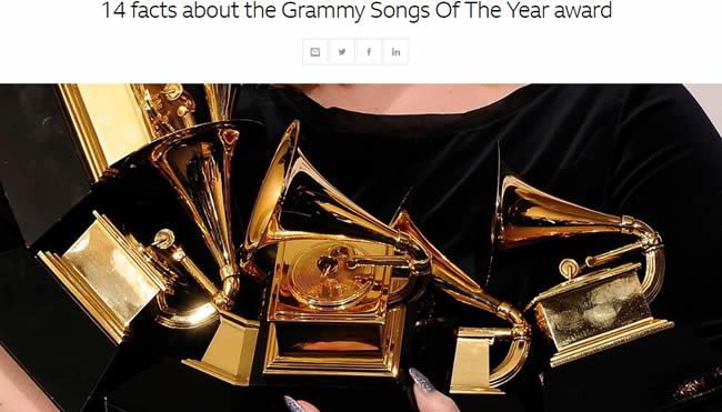 グラミー「年間最優秀楽曲賞」にまつわる14の事実