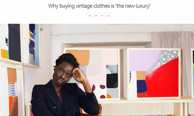 """古着を買うのが""""新たな贅沢""""になる理由"""